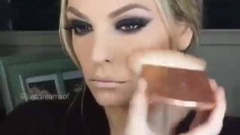 Maquiagem Com Olhos Marcantes E Boca Nude, Fica Muito Linda!