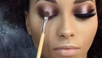 Maquiagem Com Olhos Marcantes E Delineado Perfeito, Confira!