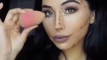 Maquiagem Com Olhos Neutros Batom Rosê, E Cílios Bem Marcados!