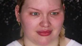 Maquiagem Com Pele Bem Preparada, Sombra Marrom Com Dourado E Batom Nude Rosado!