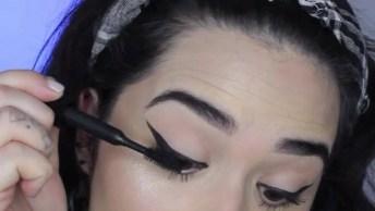 Maquiagem Com Pele Bem Trabalhada, Olhos Neutros E Batom Vermelho!