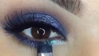Maquiagem Com Sombra Azul, Uma Make Mais Que Perfeita!