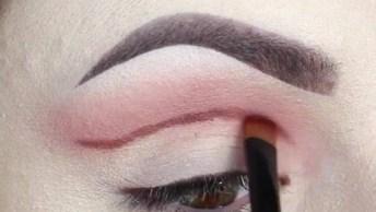 Maquiagem Com Sombra Bem Marcada E Delineado Com Puxadinho Maior!