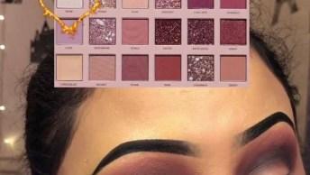 Maquiagem Com Sombra Brilhante, Veja Que Make Sensacional Para Divas!