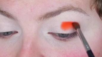 Maquiagem Com Sombra Cor-De-Abóbora, O Resultado É Incrível!