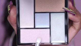 Maquiagem Com Sombra E Batom Com Cores Incríveis - Adorável!