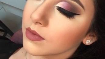 Maquiagem Com Sombra Em Degradê Para Formatura, Ou Festa De Aniversário!