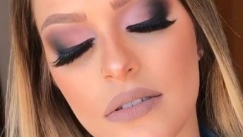 Maquiagem Com Sombra Esfumada, Uma Das Favoritas Das Mulheres!