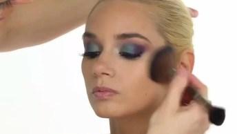 Maquiagem Com Sombra Lilás E Verde, Uma Combinação Pra La De Perfeita!