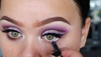Maquiagem Com Sombra Lilás Para Festa, Olha Só Como Fica Maravilhosa!