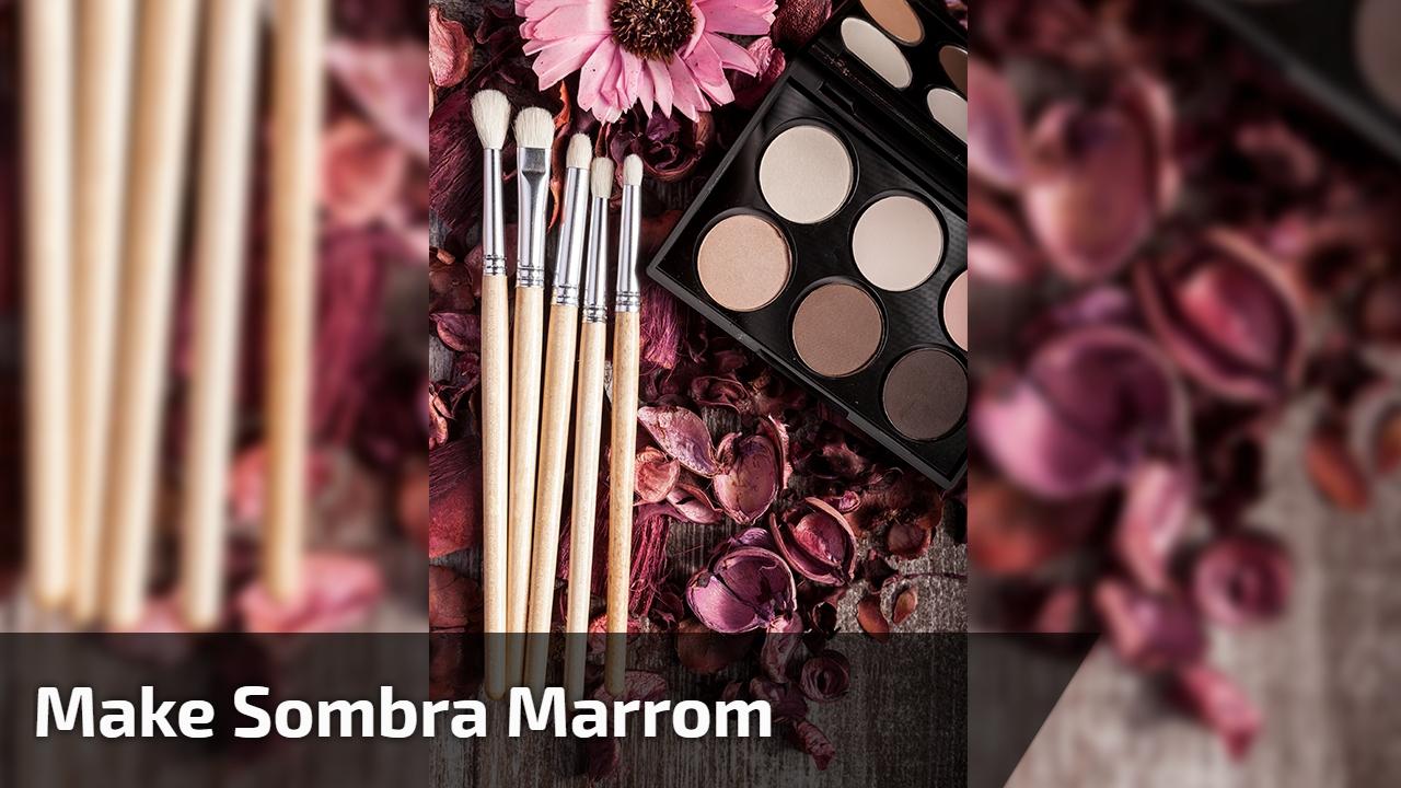 Maquiagem com sombra marrom e batom na cor nude, olha só que linda!!!