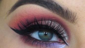 Maquiagem Com Sombra Marrom E Cintilante Maravilhosa Para O Fim De Semana!