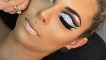 Maquiagem Com Sombra Prata, Veja Que Make Arrasadora Para Balada!