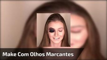 Maquiagem Com Sombra Preta, Para Quem Quer Olhar Marcante!!!