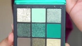 Maquiagem Com Sombra Verde E Contornos, Fica Incrível O Resultado!