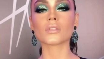 Maquiagem Com Sombra Verde Maravilhosa, Para Se Sentir Uma Rainha!