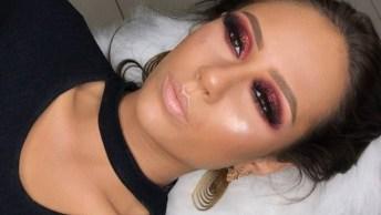 Maquiagem Com Sombra Vermelha Maravilhosa Para Festas, Simplesmente Perfeita!