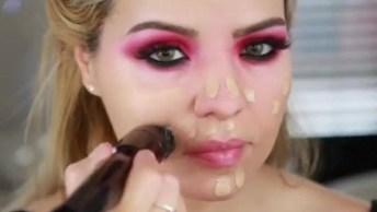 Maquiagem Com Sombra Vermelha, Para Quem Acha Que Não Combina!
