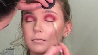 Maquiagem Com Sombra Vermelha, Super Ousada E Fica Linda!