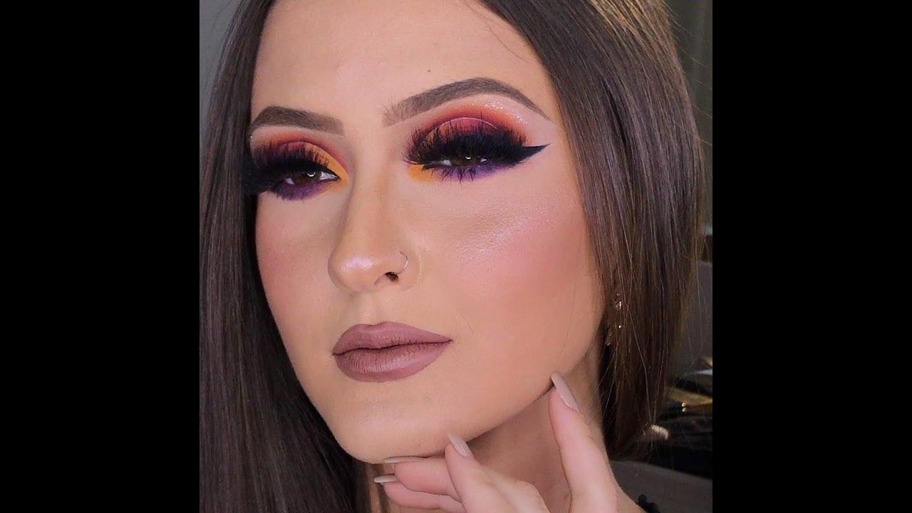 Maquiagem com técnica para deixar cor em degradê
