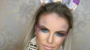 Maquiagem Com Tema De Unicórnio, Fica Muito Linda E Diferente!