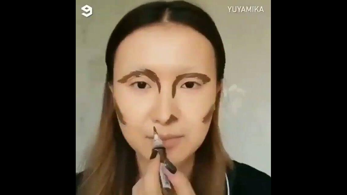 Maquiagem como uma pintura no quadro