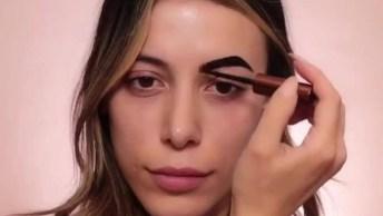 Maquiagem Completa Bonita Com Batom Escuro, Bora Conferir!