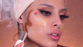 Maquiagem Completa, Com Contorno E Iluminador, Make Linda!