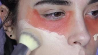 Maquiagem Completa Com Corretivo Laranja Para Camuflar Olheiras!
