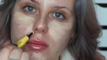 Maquiagem Completa Com Preparação De Pele, Contorno E Sombra Lilas E Roxo!