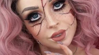 Maquiagem De Boneca Quebrada Para O Halloween, Olha Só Que Legal!