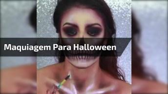 Maquiagem De Caveira Mexicana Lindíssima Para Você Arrasar No Halloween!