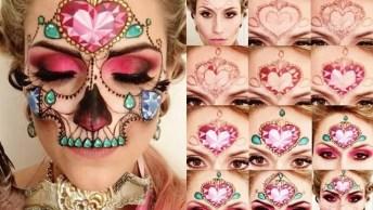 Maquiagem De Caveira Mexicana Maravilhosa, Impossível Não Se Apaixonar!