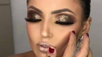 Maquiagem De Festa Noturna, Impossível Não Ficar Linda Com Essa Make!