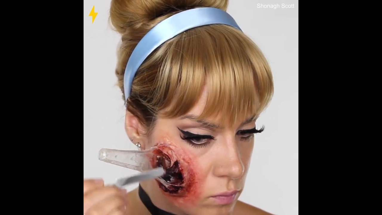 Maquiagem de princesa zumbi