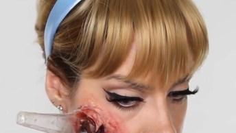 Maquiagem De Princesa Zumbi, Uma Ideia Legal Para Ir Em Uma Festa!
