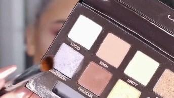 Maquiagem Discreta Com Batom Marrom Matte, Ficou Linda!
