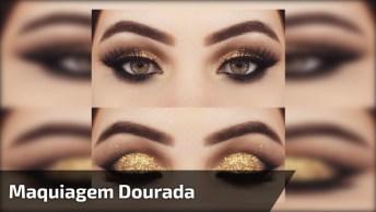 Maquiagem Dourada Que Combina Com Pele Clara, Linda Make!