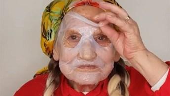 Maquiagem Em Pele Madura, Olha Só Que Linda Esta Senhora Super Simpática!