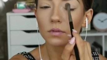 Maquiagem Esverdeada Com Cílios Maravilhoso, Confira E Compartilhe!