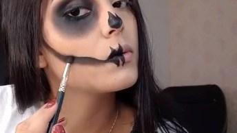 Maquiagem Fácil Para Halloween De Caveira Mexicana, Olha Só Que Linda!