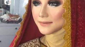 Maquiagem Feita De Um Lado Do Rosto Para Mostrar Como Realça A Beleza!