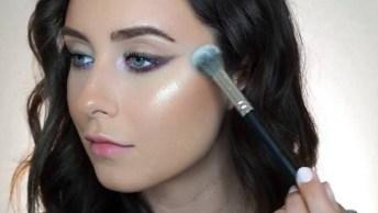 Maquiagem Leve Para O Dia A Dia Com Batom Rosa, Veja Que Linda Make!