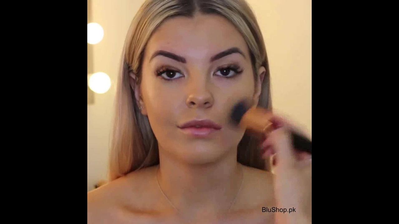 Maquiagem maravilhosa com batom vermelho