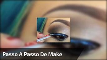Maquiagem Maravilhosa Com Delineado Preto E Esfumado Incrível!