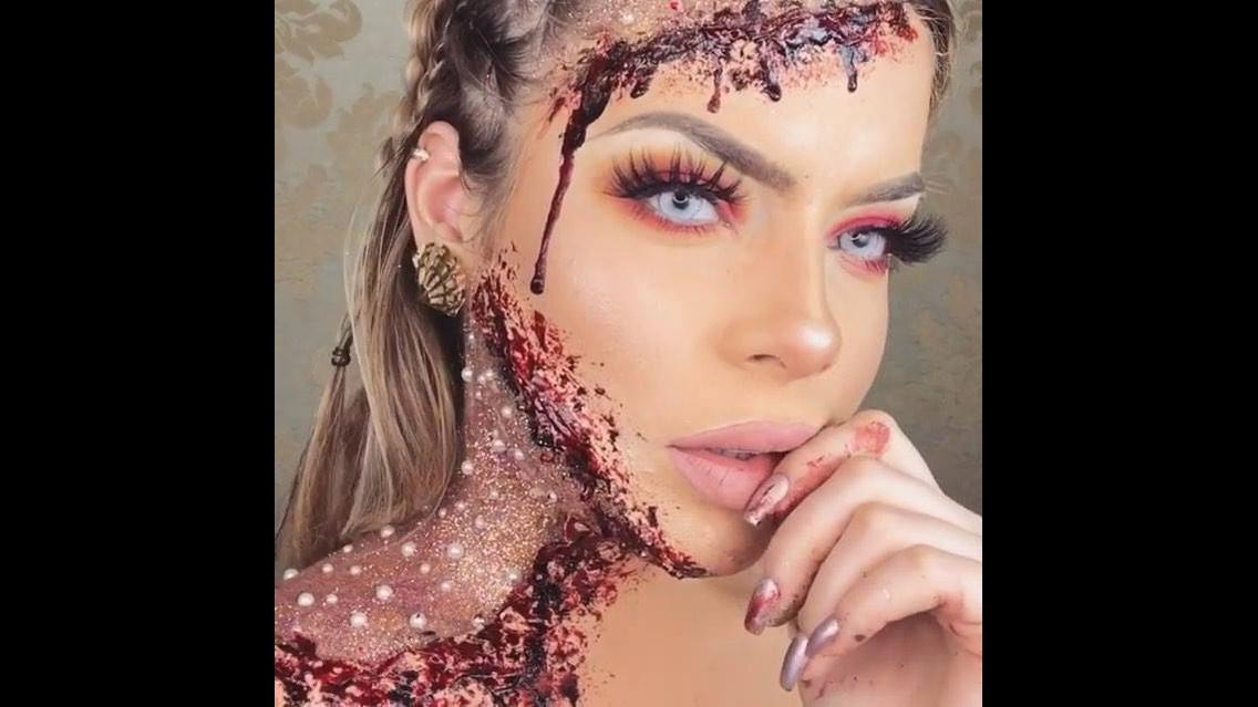 Maquiagem maravilhosa para Halloween