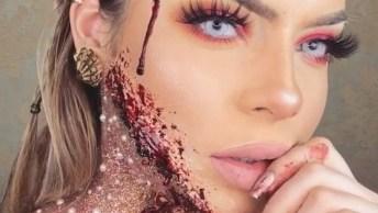 Maquiagem Maravilhosa Para Halloween, O Resultado Final É Perfeito!