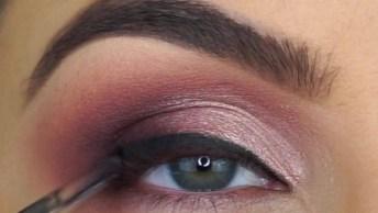 Maquiagem Metalizada Para Os Olhos, Com Cílios Maravilhoso!