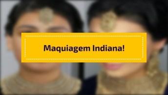 Maquiagem Na Índia, Veja Que Moça Linda Se Maquiando, Maravilhosa!