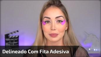 Maquiagem Nos Olhos Com Ajudinha De Fita Adesiva, Veja Como Ajuda!